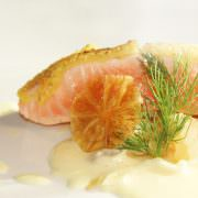 Gang 4 - Lachs mit Limettenkruste, Fenchel-Traubengemüse